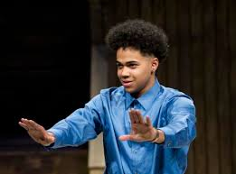 Abel Garcia Preforming at the ESU National Shakespeare Competition Finals  2016 - New York City Branch