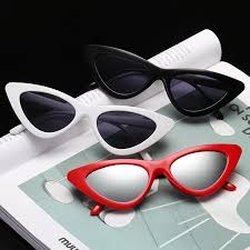 y cute lady sunglases red
