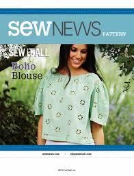 boho blouse sewing pattern