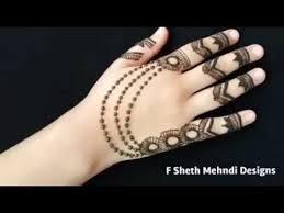easy jewellery mehndi design for