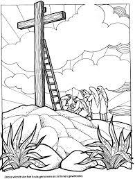 Goede Vrijdag Kleurplaat 3 12 Jaar Bijbels Opvoeden Nl