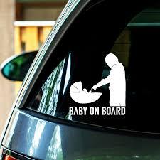 Baby Yoda On Board Car Decals