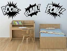 Boom Pow Blam Comic Book Sounds Vinyl Sticker Decal For Kids Superhero Wall Ebay