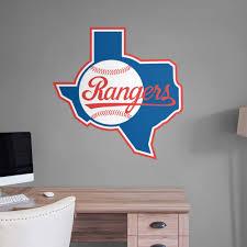 Fathead Texas Rangers Logo Giant Removable Decal