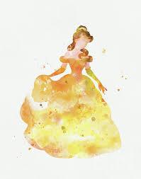 watercolor disney disney princess art