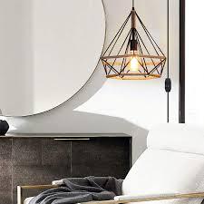 loft industrial plug in pendant light