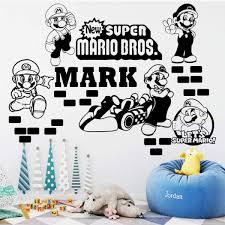 Super Mario Sticker 3d Kids Decal Bedroom Wall Art Mural
