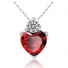 pin on heart necklace