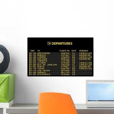 Bezel Airport Wall Decal Wallmonkeys Com
