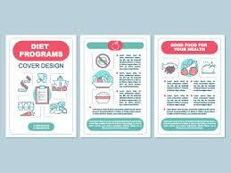 healthy nutrition brochure template