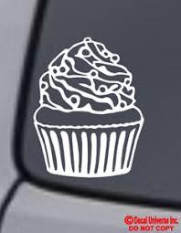 Cupcake Vinyl Decal Sticker Car Window Wall Bumper Funny Love Treats Bakery Jdm Ebay