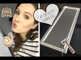 diy beauty mirror with lights tutorial