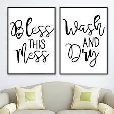Black White Wash And Dry Quotes Posters And Prints Clothespin Laundry Canvas Painting Nordic Wall Art Pictures For Bathroom De Wallcorners Art Canvas