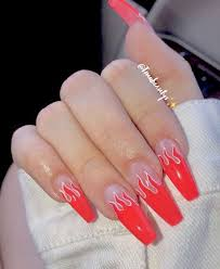 the best red acrylic nails