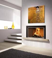 wood burning fireplace blandine