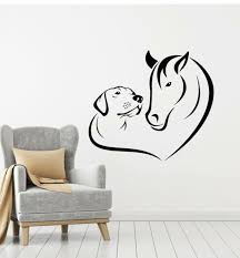 Vinyl Wall Decal Animals Horse Dog Love Pets Veterinary Clinic Stickers G2232 For Sale Online