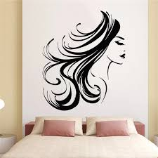 Girl Face Wall Decal Woman Long Hair Hairstyle Makeup Room Beauty Salon Interior Decor Vinyl Window Stickers Bedroom Decoration Wall Stickers Aliexpress