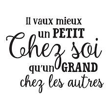 Un Petit Chez Soi French Wall Quotes Decal Wallquotes Com
