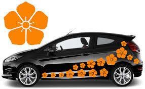 32 Orange Nectar Flower Car Decal Stickers