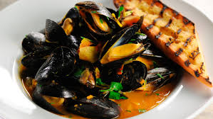 Steamed Mussels with Saffron Flatbread ...
