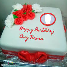birthday cakes with name and photo you