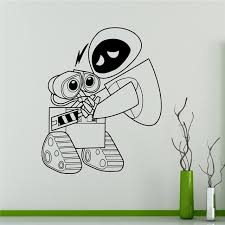 Wall Decal Wall E And Eve Cartoons Robots Vinyl Sticker Home Decor Ideas Interior Removable Kids Room Wall Art Wall Sticker Art Wall Sticker Wall Stickervinyl Stickers Aliexpress
