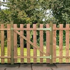 4ft Square Top Picket Pressure Treated Gate One Garden