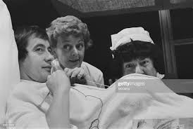 British actors Derek Fowlds, Lally Bowers and Frank Middlemass on ...