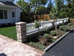 48 Popular Front Yard Fence Ideas Front Yard Backyard Landscaping Backyard Fences