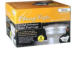 Classy Caps Sl075w Pvc Majestic Solar Post Cap 5 X 5 White Amazon Ca Tools Home Improvement