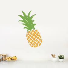 Pineapple Wall Sticker Removable Pineapple Wall Decal