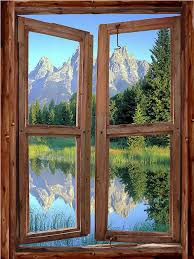 Mountain Cabin Window Mural 1 One Rustic Wall Decals By The Home Store