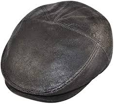 gladwinbond sheepskin leather flat cap