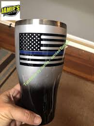 Police Support Tumbler Blue Line Flag Tumbler Made To Order Person Jamies Decals