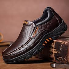 waterproof genuine cow leather shoes