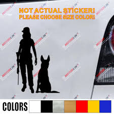 K9 K 9 Police Dog Decal Sticker German Shepherd Girl Lady Car Vinyl Pick Size Color No Background Car Stickers Aliexpress