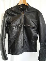 vtg 60s buco black leather cafe racer