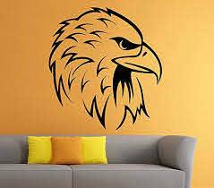 Amazon Com Eagle Wall Decal Bird Of Prey Bald Eagle Head Hawk Decals Wall Vinyl Sticker Art Wall Decor Home Kitchen