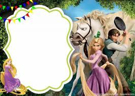 Free Royal Rapunzel Invitation Template Invitaciones De Rapunzel