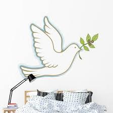 Peace Dove Wall Decal Wallmonkeys Com