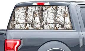Amazon Com Car Gear Rear Window Vision Graphics Kit 3m Vinyl Decal Wrap Compatible With Ford Raptor 2015 2020 Tundra Camo Automotive