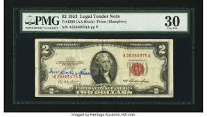 Ivy Baker Priest Courtesy Autographed Fr. 1509 $2 1953 Legal Tender | Lot  #33121 | Heritage Auctions