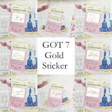 Kpop Got7 Gold Anti Radiation Sticker Decals For Phone Wish