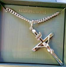 men s 925 sterling silver crucifix