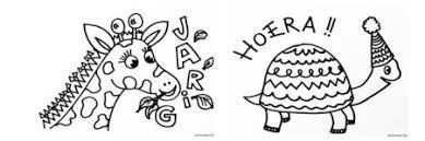 Een Tekening Bij Een Kinderverjaardag Om Zelf In