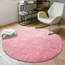 Amazon Com Yoh Super Soft Round 4x4 Feet Area Rugs For Bedroom Kids Rooms Living Room Playroom Fluffy Boys Girls Baby Kids Children Rugs For Bedroom Home Nursery Decor Yoga Mats For Women