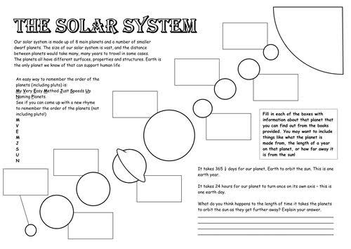 """Image result for solar system worksheet"""""""