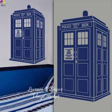 Tardis Wall Sticker Kids Room Baby Nursery Doctor Who Style Wall Decal Living Room Police Box Call Vinyl Home Decor Wall Art Aliexpress