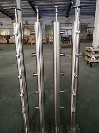 China 2020 Stainless Steel Stair Railing Handrail Post Glass Fence Posts Customized Photos Pictures Made In China Com