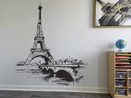 Amazon Com Paris Wall Decal Paris Eiffel Tower Wall Decal Paris Bedroom Decor Paris France Wall Decor Art Living Room Decals Paris Vinyl Lett And Stick Wall Decals Home Kitchen